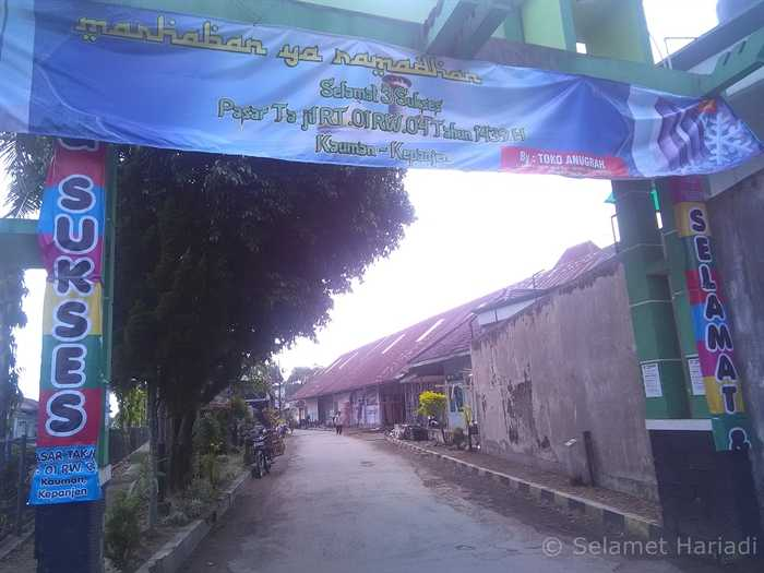 Gerbang Masuk Pasar Takjil (dok.pribadi)