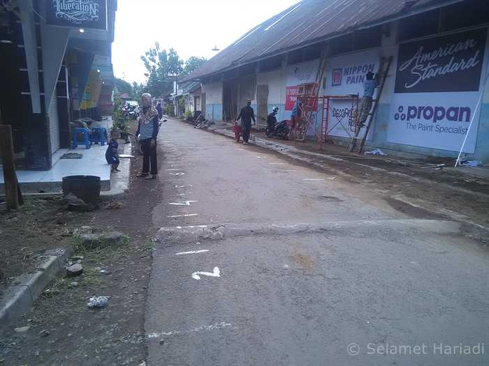 Tanda-tanda di jalan Pasar Takjil (dok.pribadi)