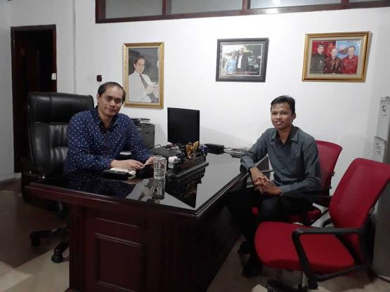 Bersama Burmalis Ilyas (Direktur Utama PT.Anak Salido)
