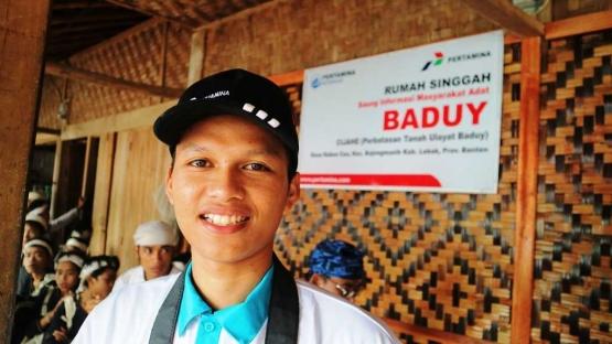 Saat di kampung Baduy