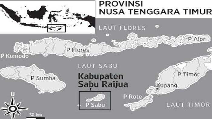 Lokasi Kab Sabu di NTT (Sumber: tribunnews.com)