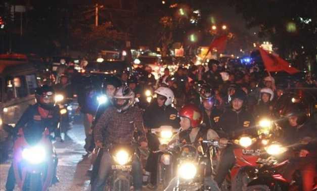 Sahur On The Road (SOTR) melibatkan banyak sepeda motor (Sumber: tribunnews)