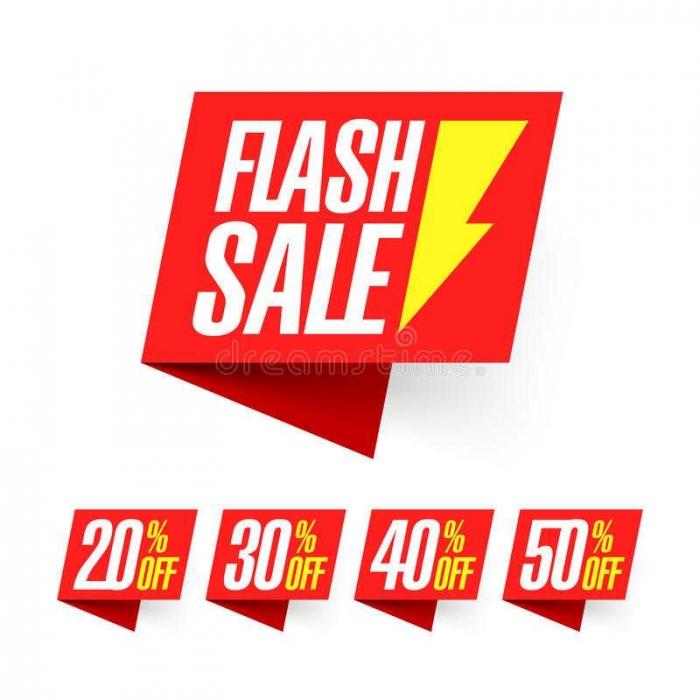 Flash Sale (dok.dreamstime)