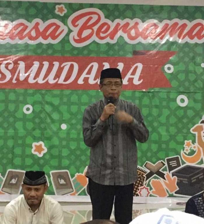 Drs.H.Jasman Luasin saat memberi sambutan. Foto: instagram.com/mario.m.putra
