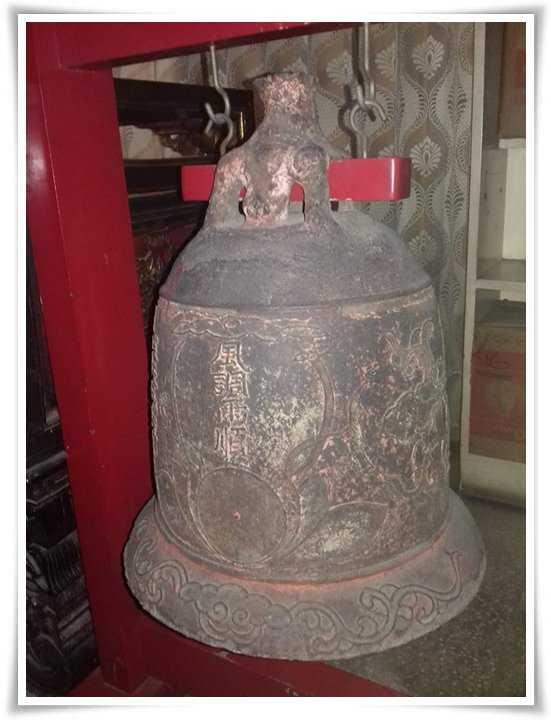 Bel kuno ada aksara Mandarin (Dokpri)