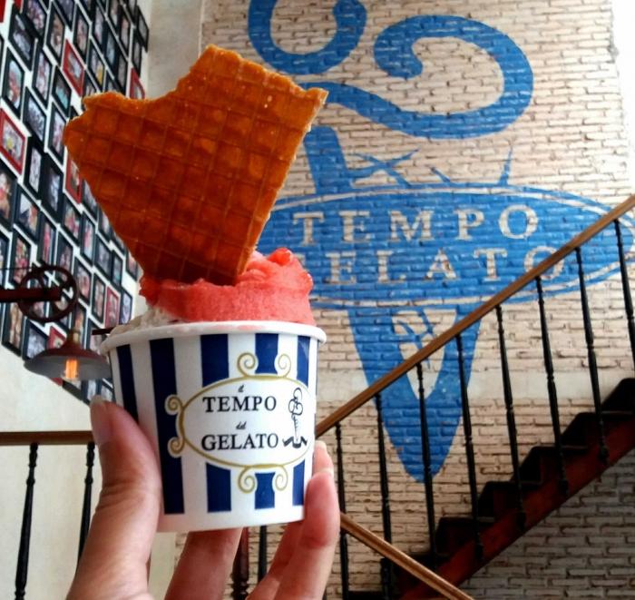 Es krim dengan ukuran cup terkecil ini harganya Rp. 20.000 dengan 2 scope gelato (Dokpri)