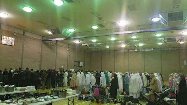 Hall Olahraga Universitas Flinders menjadi lokasi sholat Id warga Muslim Indonesia di Adelaide