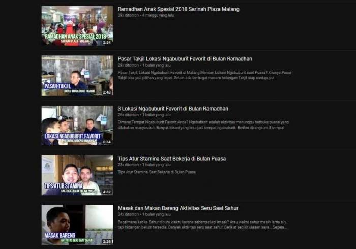 Sebagian Video yang diupload di Youtube untuk Pelengkap Tulisan (dok.youtube.com/selamethariadi)