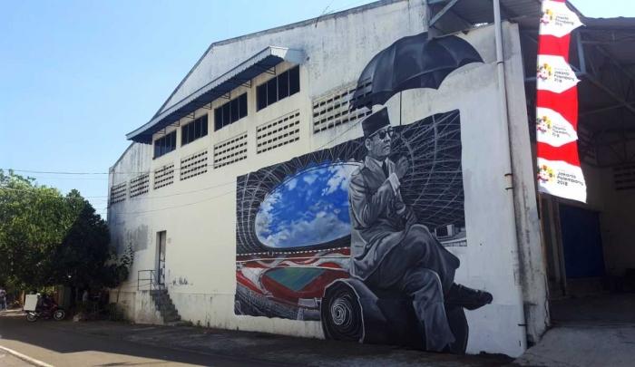 Mural ikonik Presiden Soekarno (dok. pri).