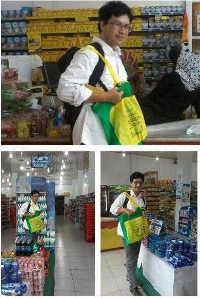 Sekarang saya membawa tas belanja sendiri (tas ramah lingkungan) saat berbelanja karena menolak tas plastik (dok pri).