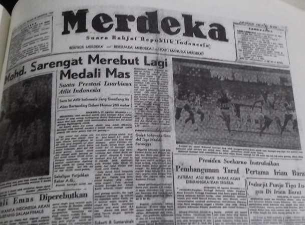 Berita kejayaan Sarengat/ foto dokpri repro Harian Merdeka tahun 1962