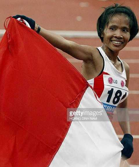 Supriati Sutono meraih emas Asian Games 1998/ foto: gettyimages.com