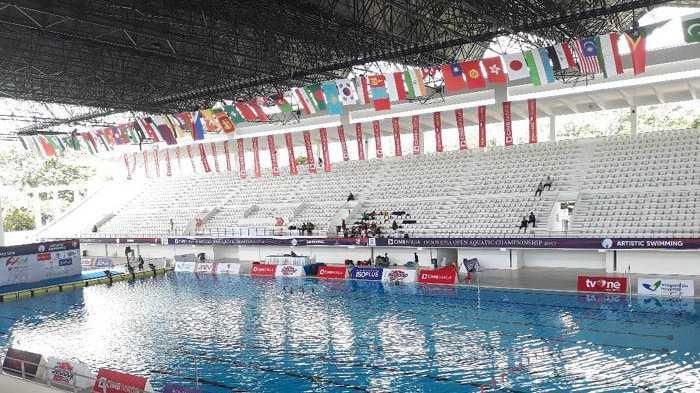 Stadion Aquatic di Kompleks Gelora Bung Karno (GBK), Senayan/Gambar dari wartakota.tribunnews.com