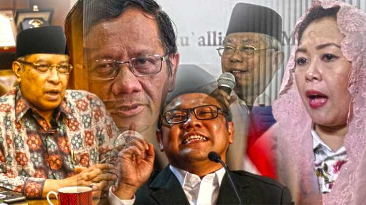 Para tokoh NU, termasuk kandidat cawapres: Ma'ruf Amin, Mahfud MD, dan Muhaimin Iskandar [Diolah dari Detik.com, Kompas.com, Merdeka.com]