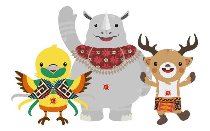 SEMANGAT: Tridente maskot Asian Games 2018.   timindonesia.id