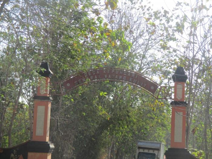 Gapura Gerbang Kampung Wayang/Dokumentasi pribadi