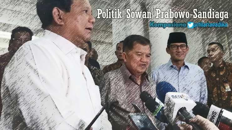Prabowo-Sandiawa Sowan Minta restu Jusuf Kalla. Ini 3 Tujuan aslinya [diolah dari Kompas.com]