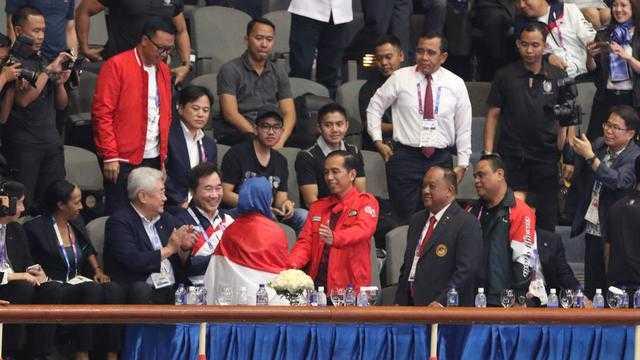 Dilihat Langsgung Presiden Jokowi (dok.bola)