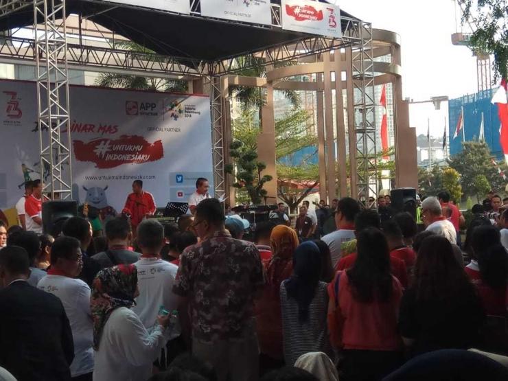Keseruan menyambut Asian Games di Sinar Mas Land Plaza, Jakarta, 15 Agustus 2018/foto dokpri