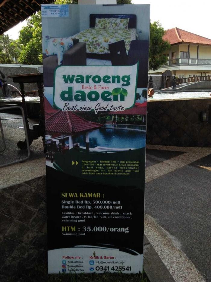 Resort Di Waroeng Daoen (dok.pribadi)
