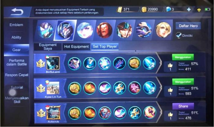 "Gambar : Dashboard Menu Game Mobile Legend ""Akun AUTOCRUT """