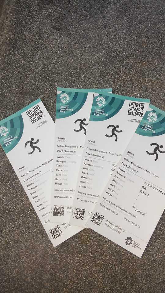 tiket atletik seharga Rp 100.000 (dok pribadi)