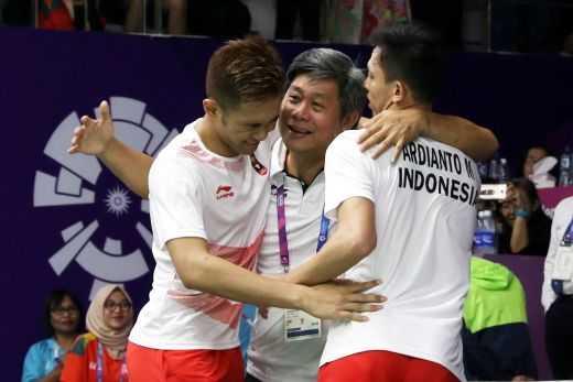 Fajar/Rian menambah porsi latihan demi bisa tampil bagus di Asian Games 2018/Foto: GoRiau