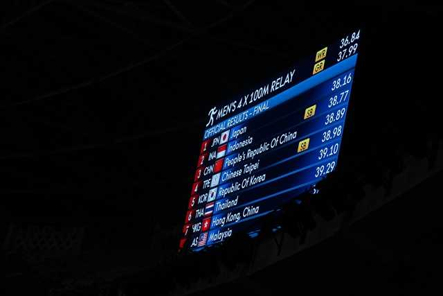 papan elektronik hasil lomba lari (dok pribadi)