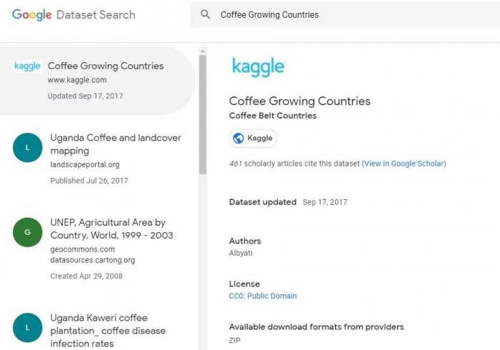 tangkapan layar Dataset Search (dokumentasi pribadi)