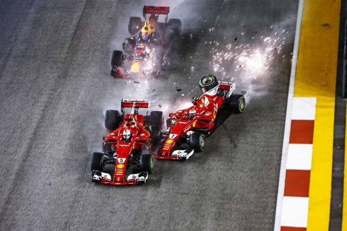 Insiden GP Singapura 2017, sumber: Lat Images