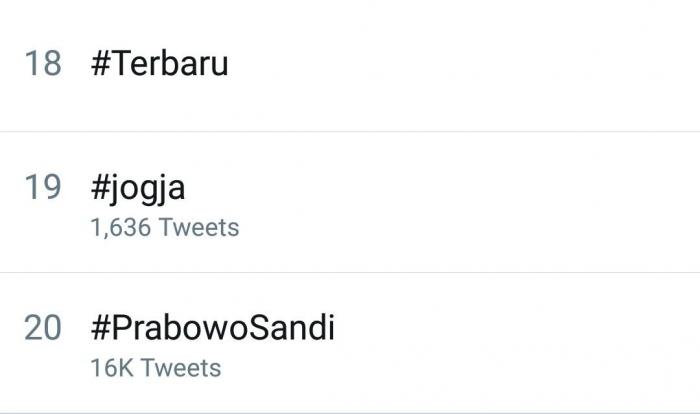 tangkapan layar trending topic