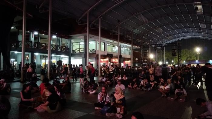 Penonton mulai memadati area Synchronize Fest 2018 (Foto: kompasiana/Ibnu Siena)