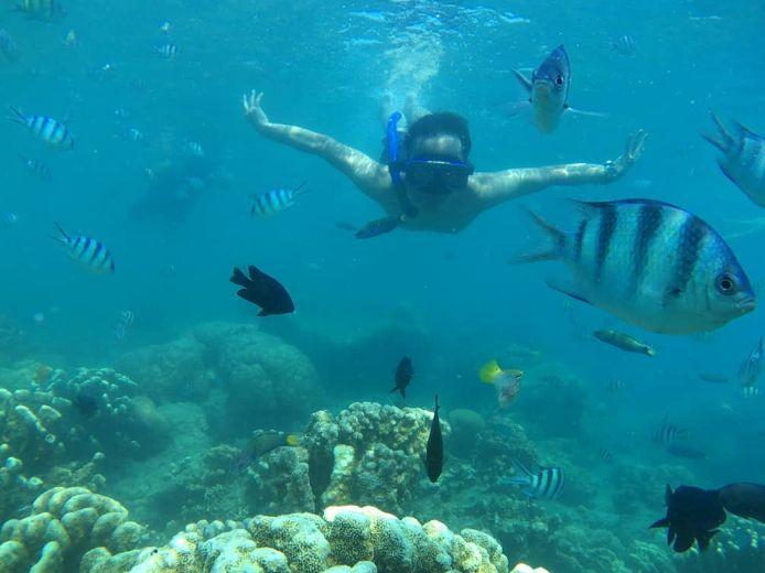 Snorkeling di Pulau Pari. Sumber: instagram.com/zawa_holiday