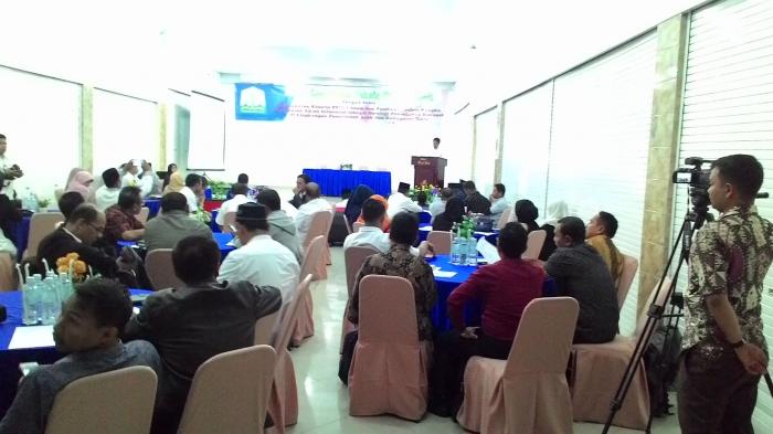 Gambar 3, Laporan Kadiskominfo Aceh Tengah selaku tuan rumah dan panitia Rakornis (Doc. FMT)