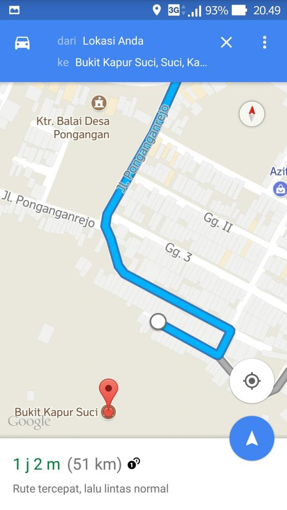 Rute berdasarkan Google maps (dok.pri)