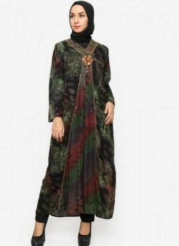 Inspirasi Model Batik Pesta Dress Panjang Yang Buat