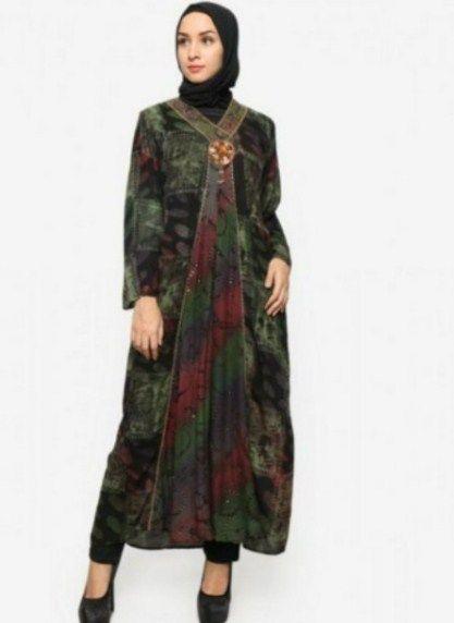 dress batik wanita online   DRESS BATIK WANITA MODERN  Model Dress Batik Pesta