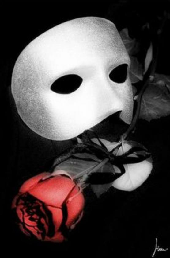 Red Rose with Black Ribbon,trademark Phantom.www.pinterest.com