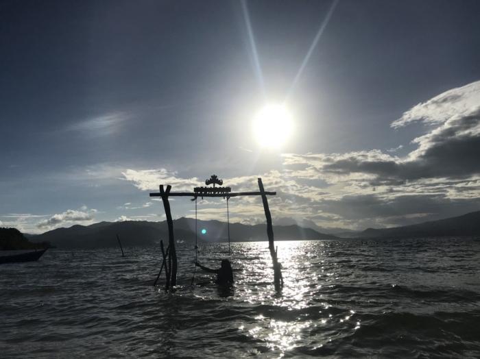 Sunset di Pulau Kelagian