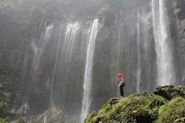 Air trejun Tumpak Sewu dari lembah (dok.pri)