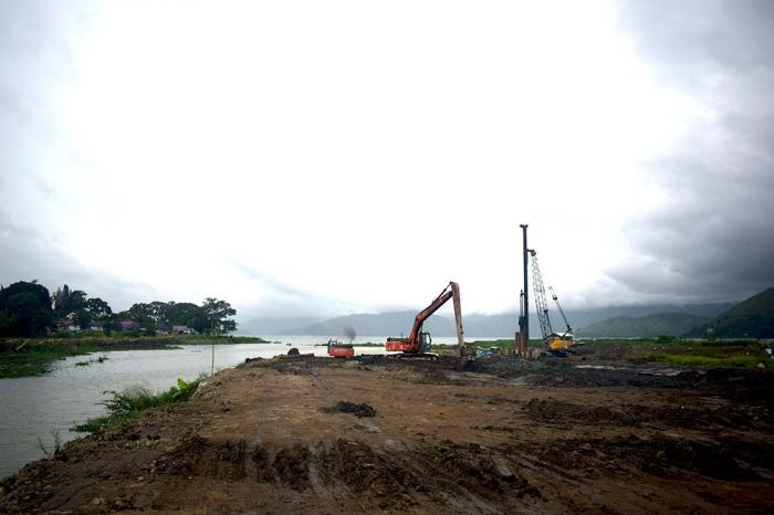 Proyek pengerukan Alur Tano Ponggol, Samosir. (Dokpri)