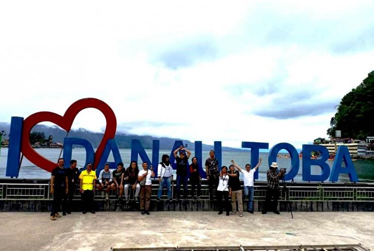 Team 'Media Visit Danau Toba'. Dokpri.