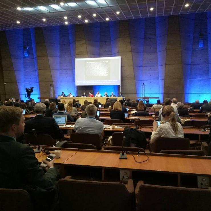 Salah satu sesi diskusi di Internet Governance Forum, Paris, Perancis, 12-14 November 2018.  Dokumentasi pribadi
