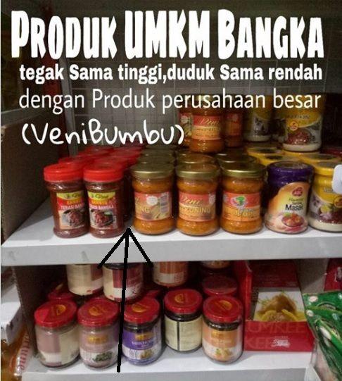 Produk Veni Bumbu di Salah Satu Supermarket (panah warna hitam / dok. Veni)