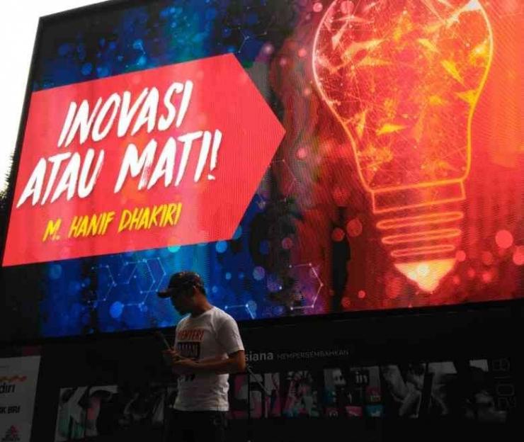 M. Hanif Dhakiri, Menteri Tenaga Kerja Republik Indonesia di Kompsianival 2018 (dokpri)