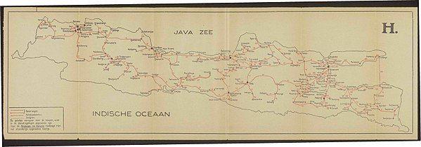 Jalur Kereta Api di pulau Jawa tahun 1935. (image: google)