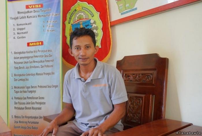 Sugiyanto, Sekretaris Desa Tegalrejo, Gedangsari, Gunung Kidul (Dokumentasi pribadi)