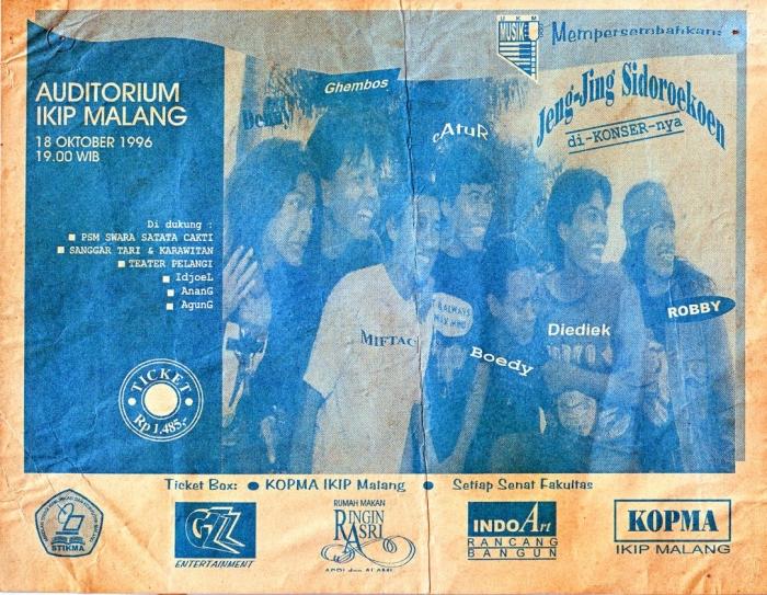Poster konser kecil-kecilan kelompok musik saya di IKIP Malang/dokpri