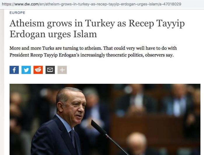 Berita Atheisme di Turki Karena Erdogan (Deutsche Welle) | tangkapan layar pribadi