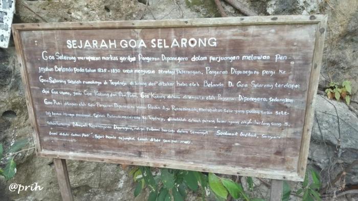 Sejarah gua Selarong (dok pri)